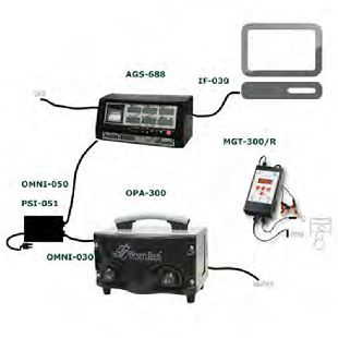 Ags-688/r Analizzatore Gas Con Display E Opa-300 Opacimetro Brain Bee